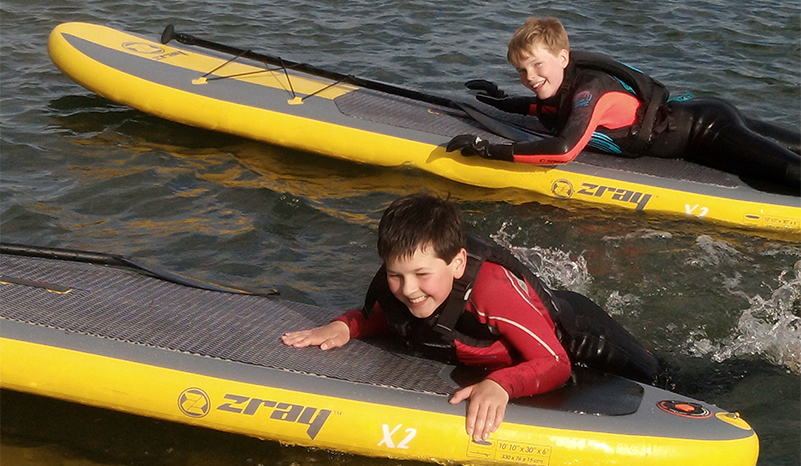 In use SUP Hire UK children