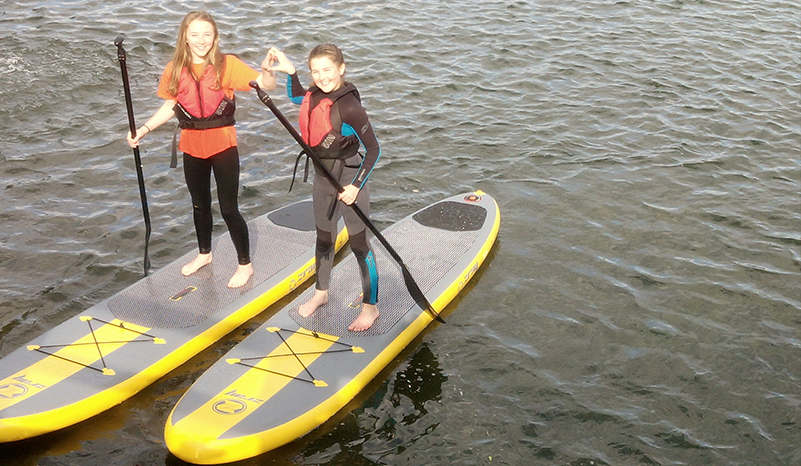 In use SUP Hire UK girls